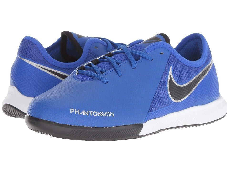 Nike Kids Phantom Vision Academy IC (Little Kid/Big Kid) (Racer Blue/Black/Metallic Silver/Volt) Kids Shoes