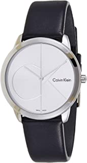 Calvin Klein Women's Analogue Quartz Watch with Leather Strap K3M221CY