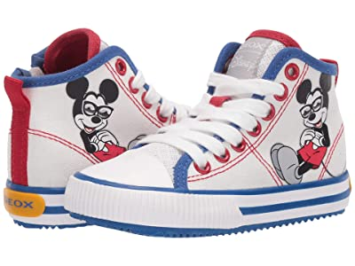 Geox Kids Alonisso 49 Mickey Mouse (Toddler/Little Kid) (White/Royal) Boy