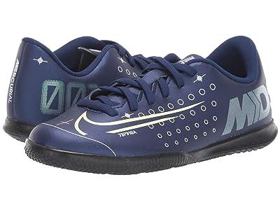 Nike Kids JR Vapor 13 Club MDS IC Soccer (Little Kid/Big Kid) (Blue Void/Metallic Silver/White/Black) Kids Shoes