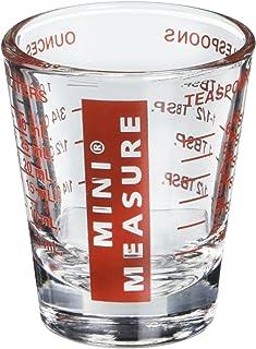(Red) - Kolder 13211 Mini Measure Heavy Glass, 20-Incremental Measurements Multi-Purpose Liquid and Dry Measuring Shot Gla...