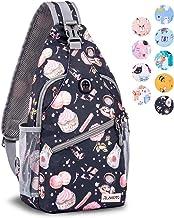 ZOMAKE Sling Bag Backpack for Women Girl, Small Chest Crossbody Daypack Over Shoulder Backpack for Travel Day Trip