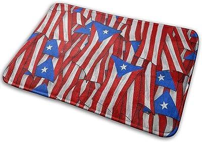 """Doormats Bath Rugs Outdoor Mat,Puerto Rican Flag Non-Slip Machine Washable Door Mat Bathroom Kitchen Rug Floor Mat 23.6"""" 15.7"""""""