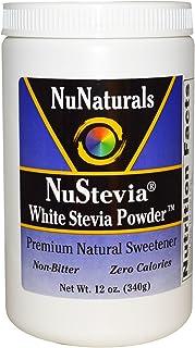 NuNaturals, NuStevia White Stevia Powder, 12 oz (340 g) - 2pcs