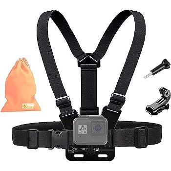 Dazzne P2 1080P HD Navitech Adjustable Shoulder Body Strap Harness Mount Holder Compatible with The Cooler Sports Action Cam Crocolis HD Action Cam