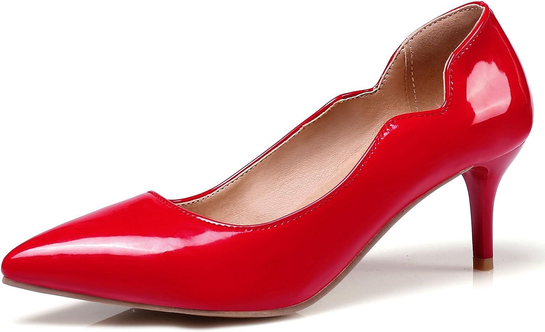 KingRover Women's Sexy Point Toe High Heels,Patent Leather Pumps,Wedding Dress shoes,Cute Evening Stilettos