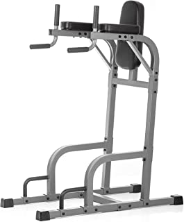 xmark fitness vertical knee raise with dip station