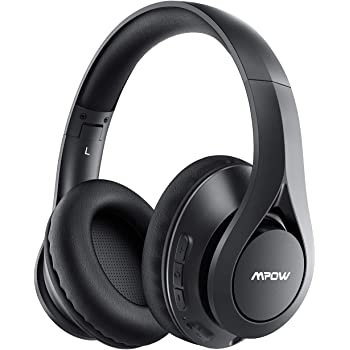 Mpow 059 Pro Bluetooth Headphones Over Ear, Upgraded to 60Hrs Playtime, Wireless Bluetooth 5.0 Headphones with Hi-Fi Stereo Sound, Protein Earpads Headset w/Mic for Home, Travel, Office, Online Class