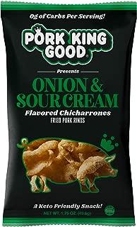 Pork King Good Pork Rinds (Chicharrones) (Onion & Sour Cream, 4 Pack)
