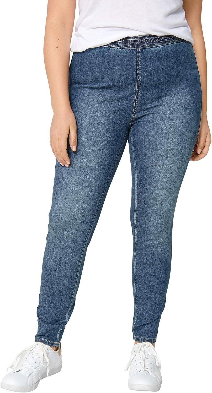 ellos Women's Plus Sales for sale Size Elastic Waist Jeggings Denim Leggings At the price