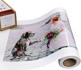 Vibrance Luster Photo Printer Paper 10 mil 255 gsm Luster Finish Premium Photo Paper Roll on 3in Core 17 inches x 100 feet Works with Most Inkjet Printers Including Professional Makes and Models