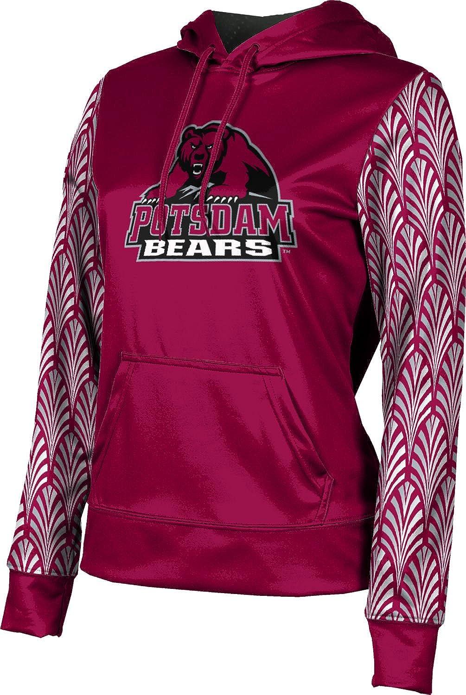 State University of New York at Potsdam Girls' Pullover Hoodie, School Spirit Sweatshirt (Deco) F9B25 Red and Gray