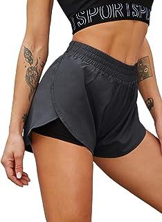 SweatyRocks Women's Gym Yoga Short Pants Activewear Athletic Running Shorts
