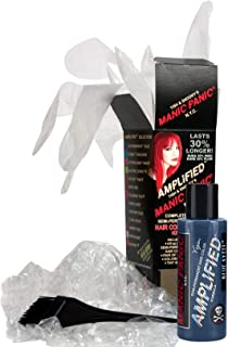 Manic Panic Blue Steel Amplified Hair Coloring Kit - Vegan Semi-Permanent Blue Hair Dye Cream - 3X Pigments & Lasts 30% Longer Than Our Classic Formula (6-8 Weeks) - PPD & Ammonia-free - Ready to Use