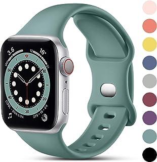CeMiKa Compatible con Apple Watch Correa 38mm 40mm 41mm 42mm 44mm 45mm, Deportivas de Silicona Correas de Repuesto Compati...