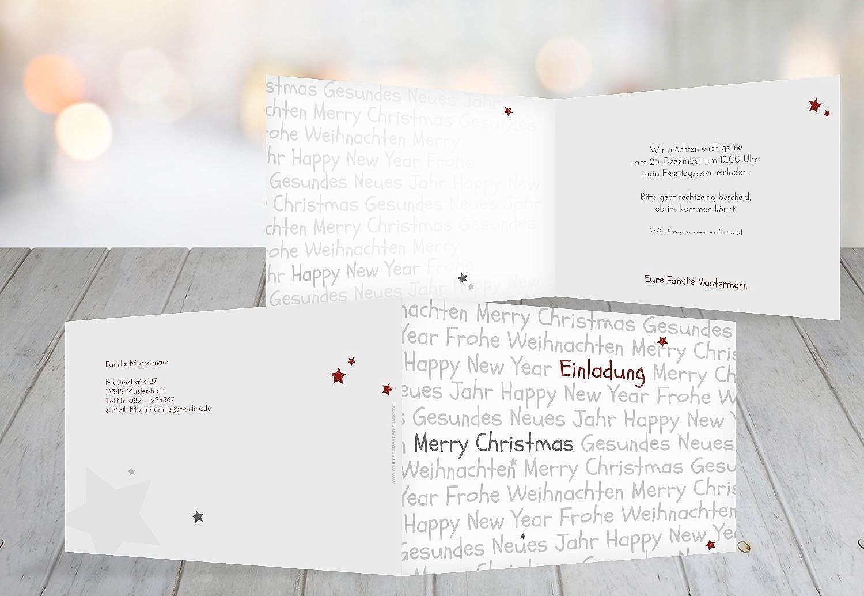 Kartenparadies Einladungskarte zu Weihnachten Einladung Schrift, hochwertige Weihnachtseinladung Weihnachtseinladung Weihnachtseinladung zum Selbstgestalten (Format  148x105 mm) Farbe  WeinRot B01MS6VD5B | Schenken Sie Ihrem Kind eine glückliche Kindheit  | Vielfalt  | Spielzeug mit kindliche 4e7e8e