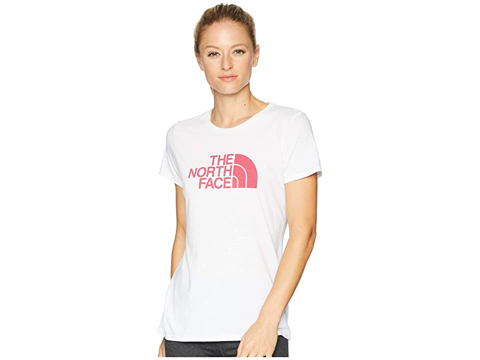The North Face 1/2 Dome Tri-Blend Crew Tee (TNF White Heather/Cerise Pink) Women