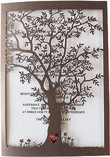 Best laser cut tree invitation Reviews