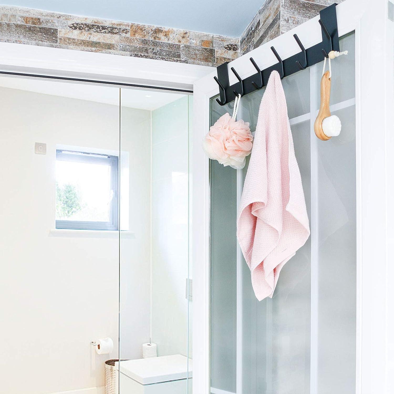 ARUNNERS Over The Door Towel Racks for Bathroom Hooks for Clothes Hanging Hanger Bronze Antique Copper Brass