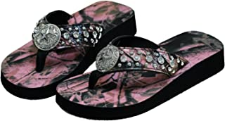 camo flip flops with rhinestones