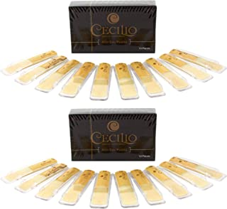 Cecilio Alto Saxophone Reeds, TWO 10-pack with Individual Plastic Case (Total of 20..