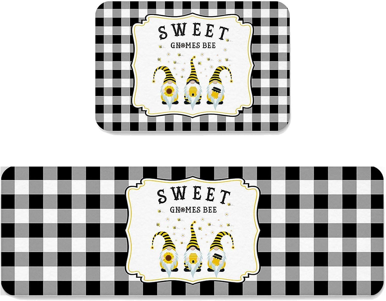 Kitchen Max 90% OFF Mat Set of 2 Rug Sweet Spring Gnom 5 popular Anti-Fatigue