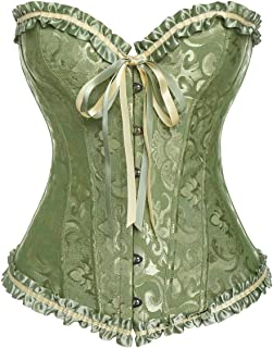 aa10ac7114 MISS MOLY Women Sexy Boned Lace up Overbust Corset Bustier Plus Size