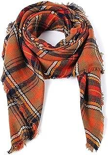 Women's Plaid Blanket Scarf Stylish Long Wrap Warm Tartan Checked Shawl