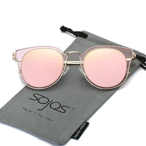 SOJOS Rond Vintage Double Circle Lens Miroir Lentilles Protection UV  Polarized lunettes de soleil unisexe SJ1057 7dd3608205b2