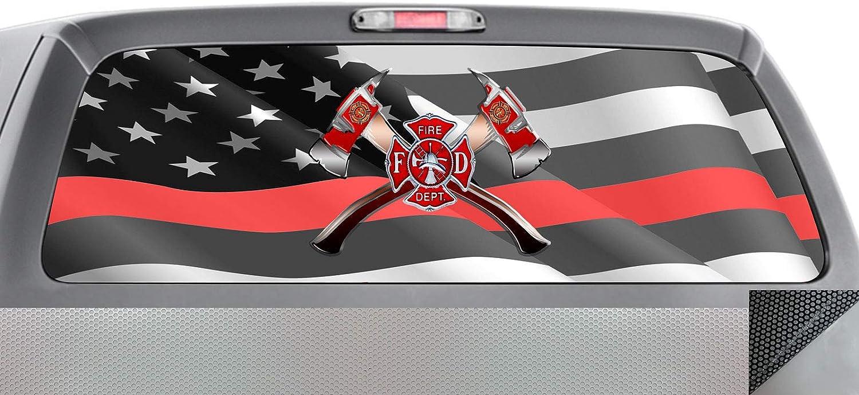 Firefighter 033 Window WRAP : Red Line Flag Windy Cross Low price Brand new Maltese