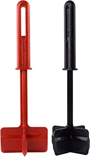 Chop and Stir Kitchen Tool with Four-Sided Head - Set of 2 - Black and Red