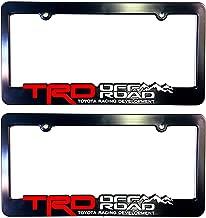 Sparkoo TRD Off Road TRD License Plate Frames Cover Holder Racing Development 3D Letters Molded (2)