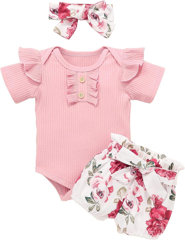 Baby Girl Summer Clothes High order Short T-Shirt Sleeve P Max 58% OFF Top+Ruffle