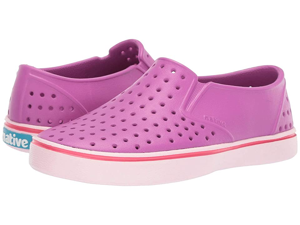 Native Kids Shoes Miles Slip-On (Little Kid/Big Kid) (Origami Purple/Blossom Pink) Kids Shoes