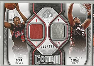 2009-10 UD SP Game Used Basketball Luol Deng-Jermaine O'Neal Dual Jersey Card # 390/499