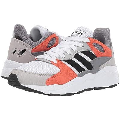 adidas Kids Chaos (Big Kid) (White/Black/True Orange) Kids Shoes