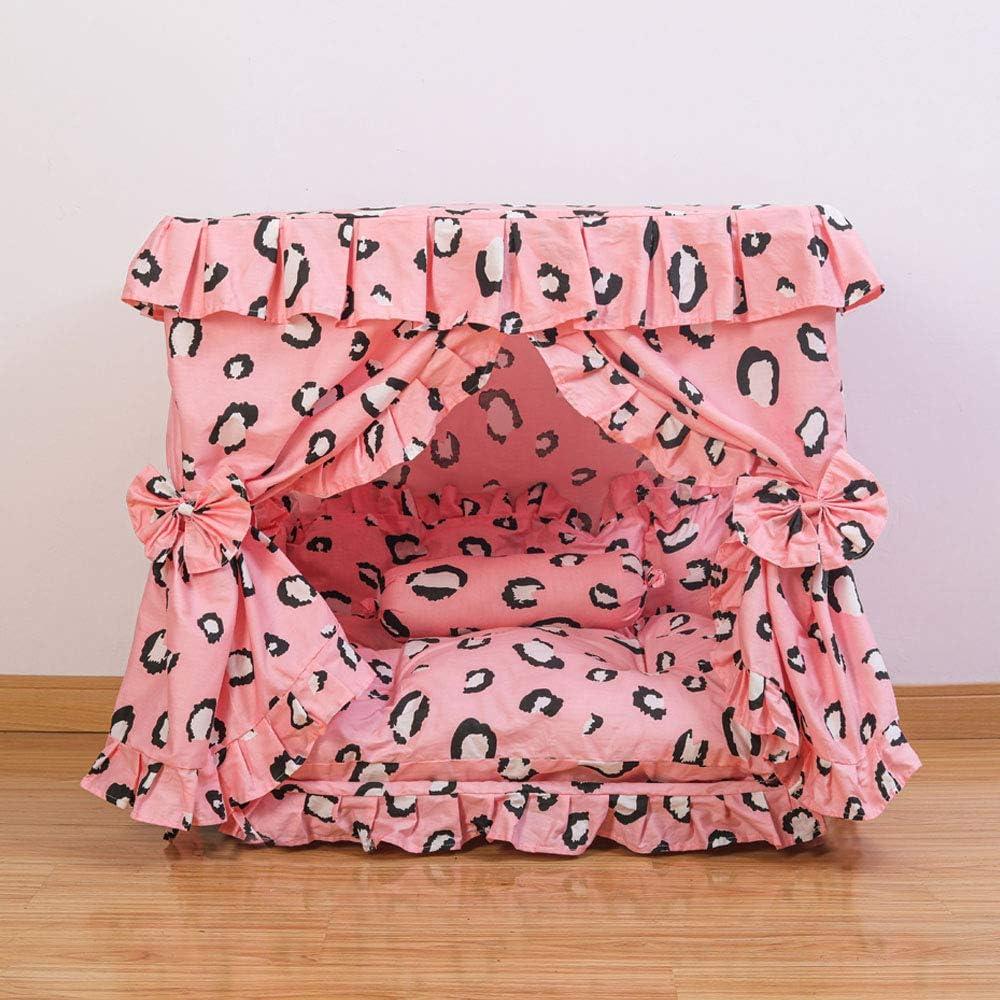 Zelaooo Princess Pet Dog Cat Bed Canop Columbus Mall supreme Handmade Cozy House