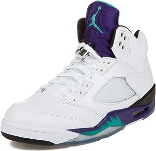 Jordan Air 5 Retro Grapes Men's Basketball Shoes White/New Emerald-Grape Ice-Black 136027-108-14