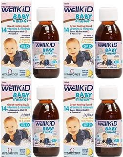 (4 PACK) - Vitabiotic - Wellkid Baby Syrup | 150ml | 4 PACK BUNDLE