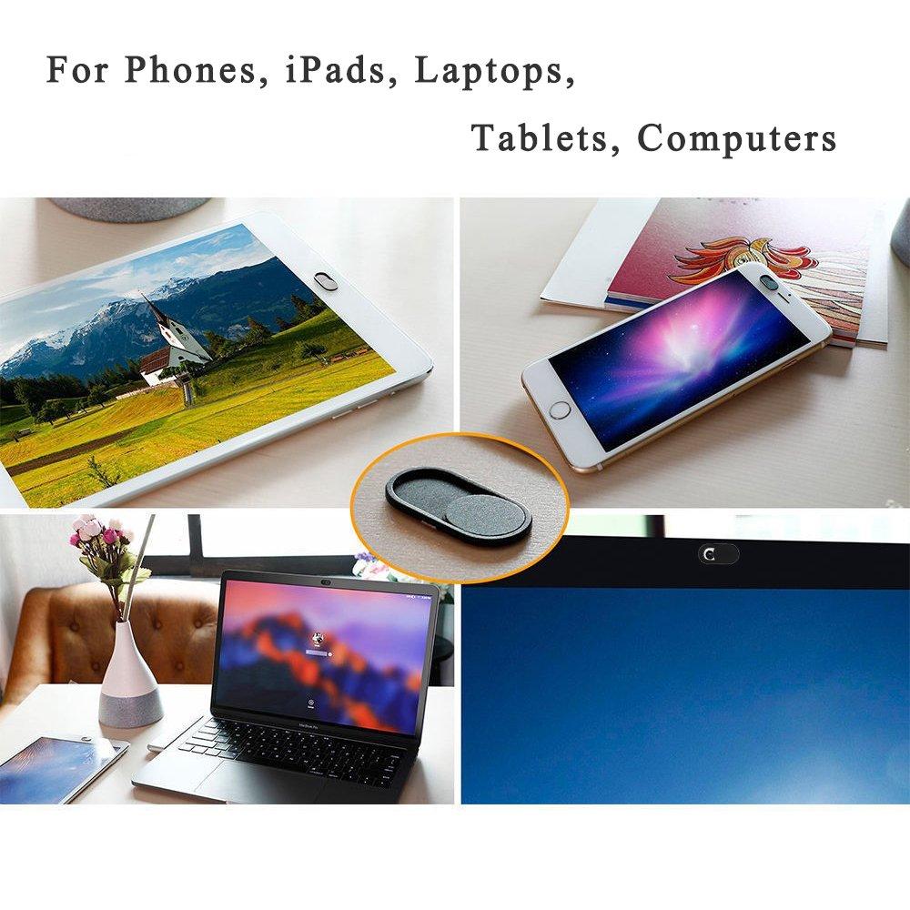 Webcam Cover Slider 5PCS Ultra Thin Privacy Camera Blocker(0.07mm) for TV Desktop Tablet Computer Laptop Mac iMac MacBook Pro iPad iPhone Smartphones by INNKER