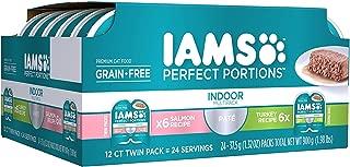 Premium Cat Food GRAIN FREE IAMS PERFECT PORTIONS INDOOR MULTI PACK 6- (12-Servings)Salmon Recipe, 6- (12-Servings) Turkey Recipe