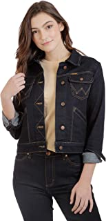 Wrangler womens Retro Premium Classic Fit Stretch Denim Jacket Denim Jacket