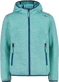CMP Knit Tech mélange fleece jacket with hood meisjes jas/jack