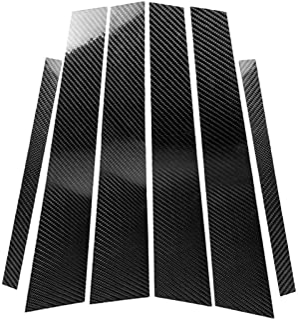 Carbon Fiber Door Window B+C Pillar Post Panel Frame Decal Cover Trim for BMW 3 Series 5th E90 E91 E92 E93 315 318 320 323 325 328 2005-2013 E901