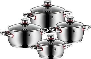WMF Quality One - Batería de Cocina, 4 Piezas, 2 cacerolas Bajas Ø16cm (1,7 litros) y Ø20cm (3,4 litros) con Tapa, 2 ollas Bajas Ø16cm (2,0 litros), y Ø20cm (4,1 litros) con Tapa