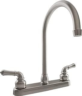 Dura Faucet DF-PK330HC-SN RV J-Spout Kitchen Faucet (Brushed Satin Nickel)