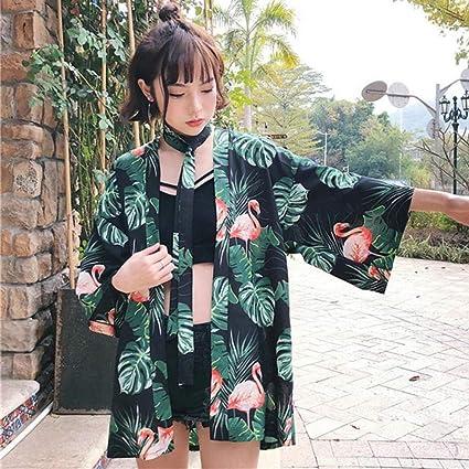 SYXYSM Kimono Japonés Rebeca De La Camisa De Playa De Moda ...