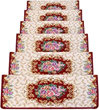 JIAJUAN Stair Carpet Treads Rectangular Non-Slip Thick Self-Adhesive Rugs Stair Treads, 6 Styles, 5 Sizes, Customizable (C...