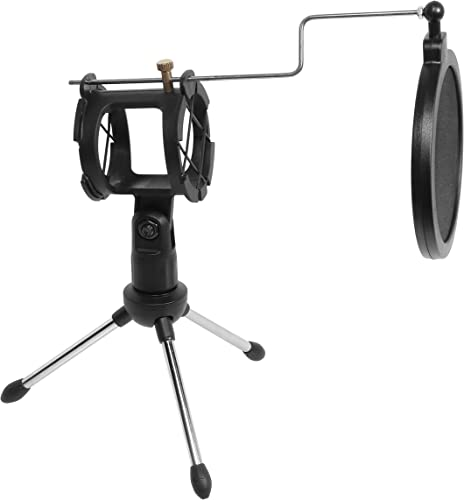 discount getgear Microphone Stand, Microphone kit with Microphone Holder, Table Tripod, POP Filter, Shockproof Mount, sale Simple kit Good online sale for DJ, Music Recorder, Computer Game sale