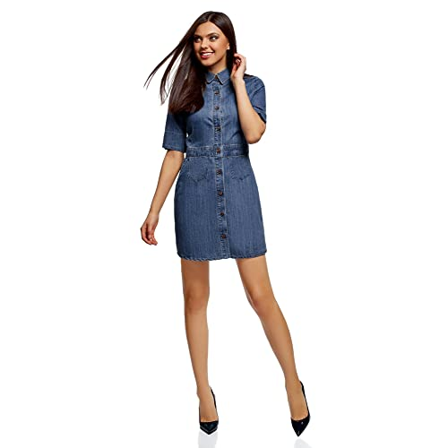 c344bb06b5c oodji Ultra Women s Buttoned Denim Dress